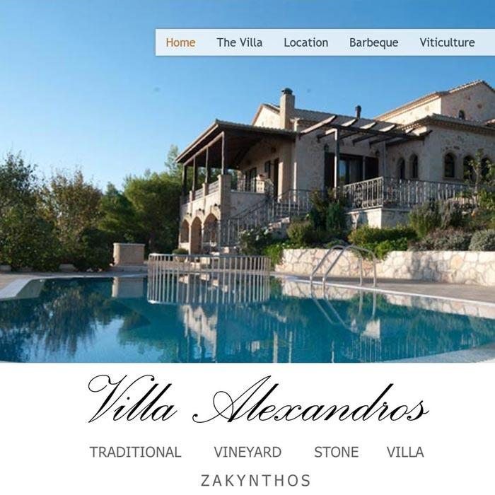 View from Villa Alexandros website