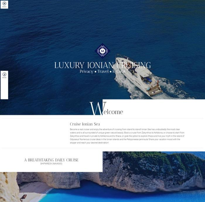 View from Zante Yachting website